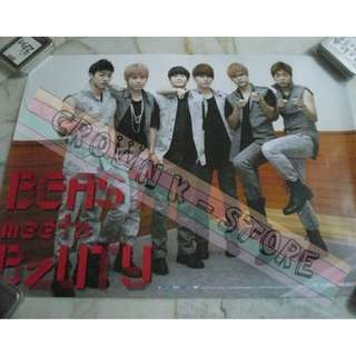 [CRAZY DEAL 90% OFF FROM ORIGINAL PRICE][READY STOCK]BEAST B2ST KOREA OFFICIAL POSTER!NEW! OFFICIAL ORIGINAL FROM KOREA  (PRICE NOT INCLUDE POSTAGE) SHIP USING TUBE