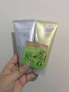 Satu Set masker premium silver foil dan gold foil nature republic (peel off) NEW !!!