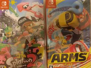 Switch Arms and splatoon2 日