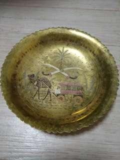 Brass/metal plate - engraved art