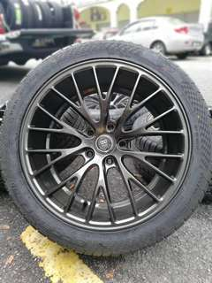 Enkei EKM3 sports rim honda hrv new tyre *below market price*