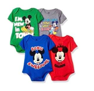 *9M* BN Disney Short Sleeve Bodysuits For Baby Boy