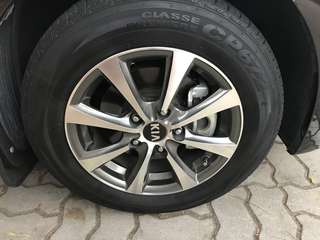 """Selling KIA K3 original 15"""" Rims with tyres"""