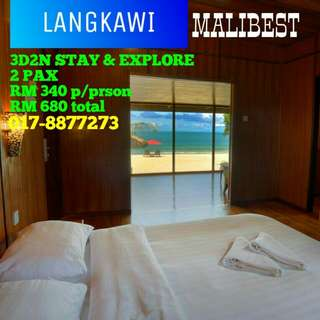 Langkawi 3D2N Stay & Explore Malibest (car rental, island hopping,cable car, 3D art museum)