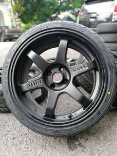 Te37 17 inch sports rim alza new tyre *below market price*