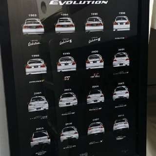 全新 三菱 露荀 Mitsubishi Lancer Evo Evolution 進化論 掛畫