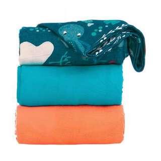 BN Tula Blanket - Aquarium print solid color