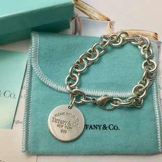 [專櫃真品]Tiffany&co 圓牌手鍊 、8成新