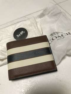 Brand New Coach men's wallet with insert
