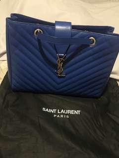 YSL Saint Laurent Chevron Matelasse Cassandre Tote