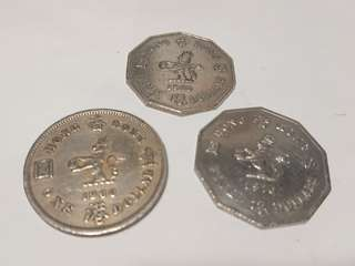 香港十角五元1976 大一元1960