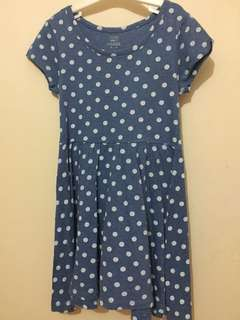 OLD NAVY polka dress in blue for kids 6-9 yrs old