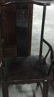 *衝評價*賠售 清朝(代)老件 椅子 清代
