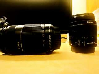 Canon lens 55-250mm+18-55mm