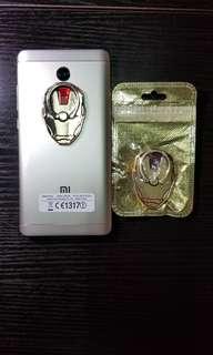 Iron man金屬Phone ring