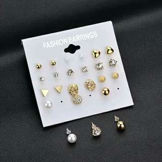 12 pairs Korean earrings