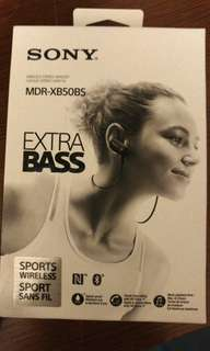 Sony MDR-XB50BS sports wireless headset ( black)