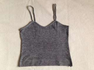 FREE SHIPPING!!! Gray cropped top