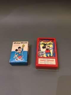1970 年代 Disney 正版古董米奇 啤牌 Made in Hongkong 香港製造 $480