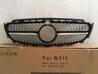 New Mercedes W213 Diamond Grille