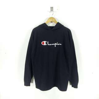 VTG CHAMPION SPELLOUT LOGO EMBROIDERED HOODIE