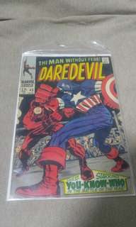 Silver age comic Daredevil Key! 1st Battle with Captain America