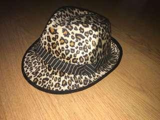 cheetah print fedora hat