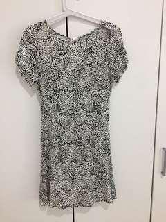 Black & White Cut-Out Dress
