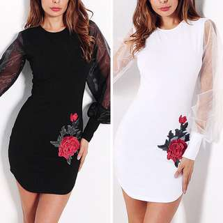 Free Shipping Promotion-15-25 Shipping Time for Women Long Sleeve Bodycon Party Sexy Dress
