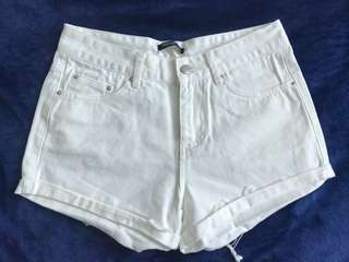 TOPFEELING 白色牛仔短褲