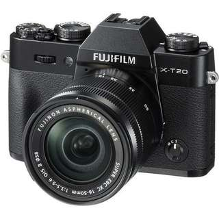 Fujifilm X-T20 Mirrorless with 16-50mm (Black) + Instax Share SP2 Bisa Kredit Tanpa Kartu Kredit