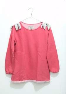 sweater pink lucu unik