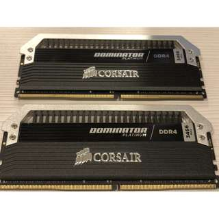 超高效能 Corsair 海盜船 Dominator Platinum DDR4 3466MHz 2x16GB 記憶體