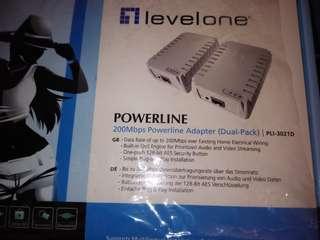 【電力線】【橋接器】LevelOne,電源線網路橋接器 ,200Mbps高速,PLI-3021D(二入),保存良好