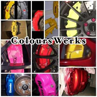 Car brake Caliper spraying , Rim spraying , Carbon fibre Relacquering etc