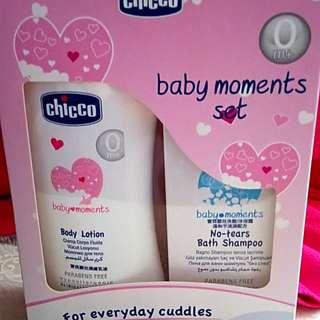 全新Chicco洗髮沐浴+護膚乳液