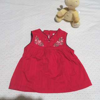 Tiny button Baby girl dress