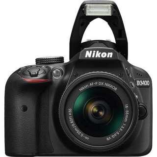 Nikon D3400 DSLR Camera with 18-55mm f3.5-5.6G VR Lens Bisa Kredit Proses Kilat