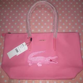 🌸 Lacoste Pink Shopping Bag 🌸