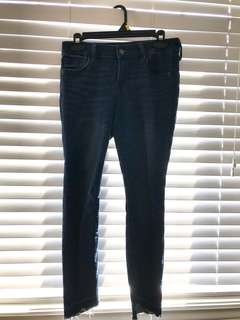 Old navy blue skinny jeans