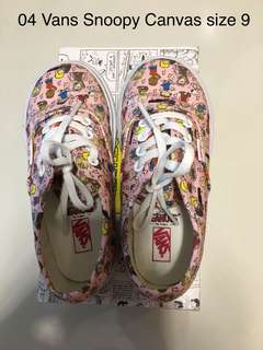 Vans snoopy canvas shoes