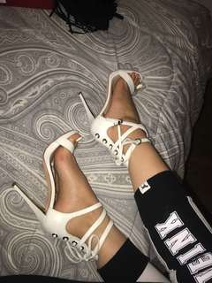 Marciano White/Gold Heels