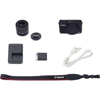 Canon EOS M3 Kit EF-M 18-55mm White Bisa Kredit DP Murah
