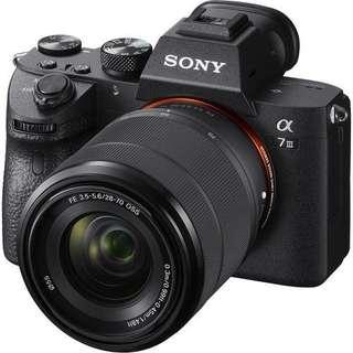 Sony Alpha a7 III kit FE 28-70mm F3.5-5.6 OSS + FE 24-70mm F4 ZA OSS Vario-Tessar T Bisa Kredit Gan