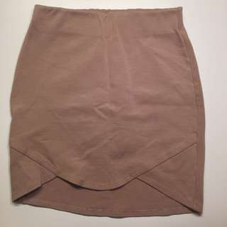 Nude/Tan Mini Skirt