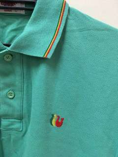 vintage topfair gunze polo shirt (rasta)