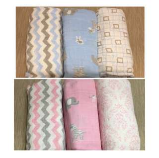 1Pcs Baby Swaddle Muslin / Bedung Baby