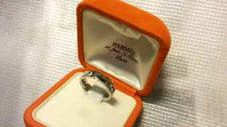 Hermes ring ,750 white gold.