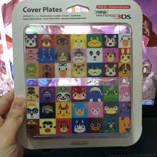 New Nintendo 3DS Animal Crossing Faceplate Cover plate Brand New Sealed