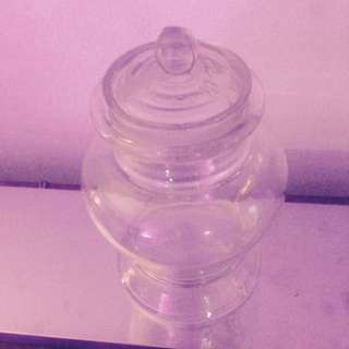 VINTAGE APOTHECARY GLASS JAR